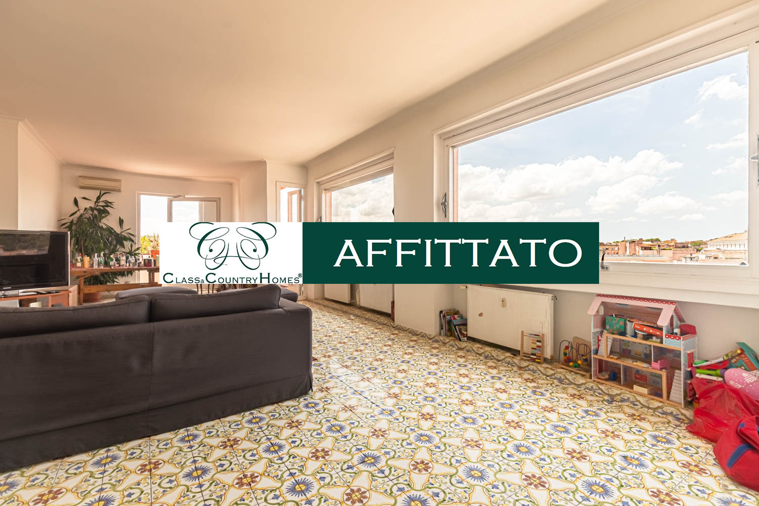 Trastevere Rome Penthouse for rent: 200 sqm in the heart of Rome